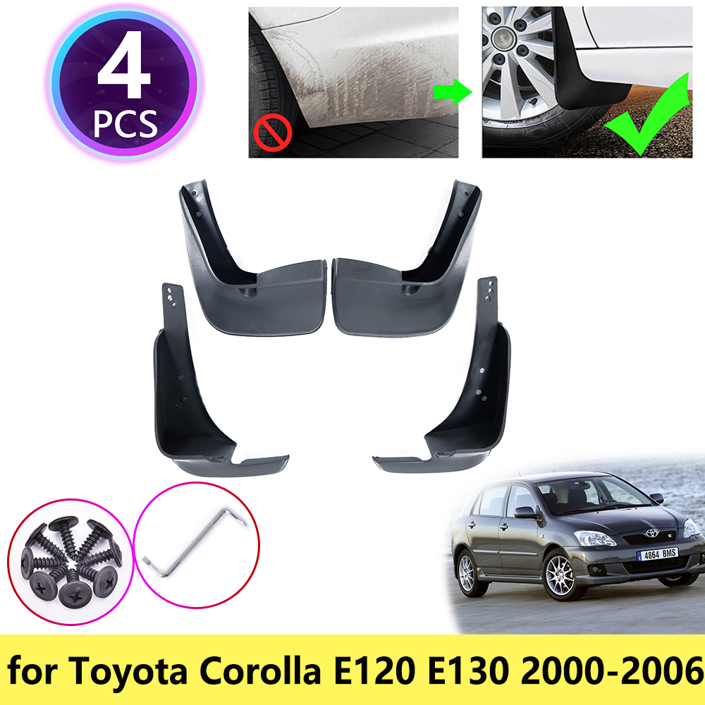 for Toyota Corolla E120 E130 2000 2001 2002 2003 2004 2005 2006 Mudguards Mudflap Fender Mud Flaps Splash Guards Car Accessories image