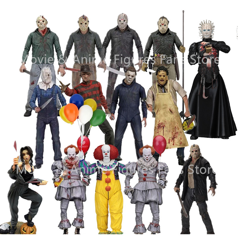 18cm NECA 3D 13 venerdì Jason Leatherface motosega Michael Myers di John Carpenter Freddy Krueger Hellraiser Action Figure Toy