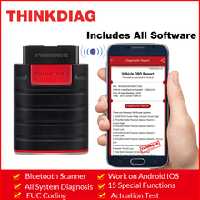 Thinkcar ThinkDiag  All system Bluetooth Scanner with All software work on android IOS 15 Reset service obdii code reader Scanne