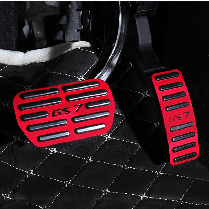 Red Brake Pedal Cover ,Alloy Nonslip Accelerator Pad Cover Brake Pedal Cover for Automatic Vehicles AT Car Pedals /& Pedal Accessories