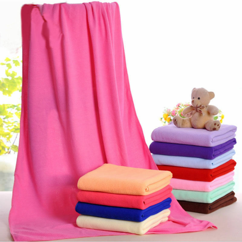 Natural Microfiber Towel Absorbent Fiber Family Bath Washer Beach Swimming Towels Pure Color  70x140cm