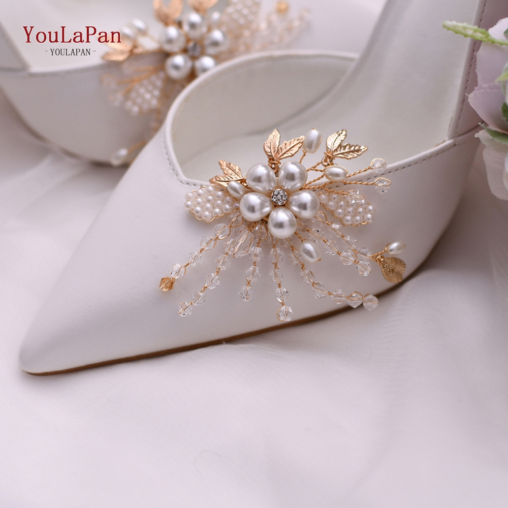 YouLaPan 2pcs/lot Bride High Heel Clip Rhinestone Bridal Wedding Shoes Buckle Women Accessories High Heel Decoration X06