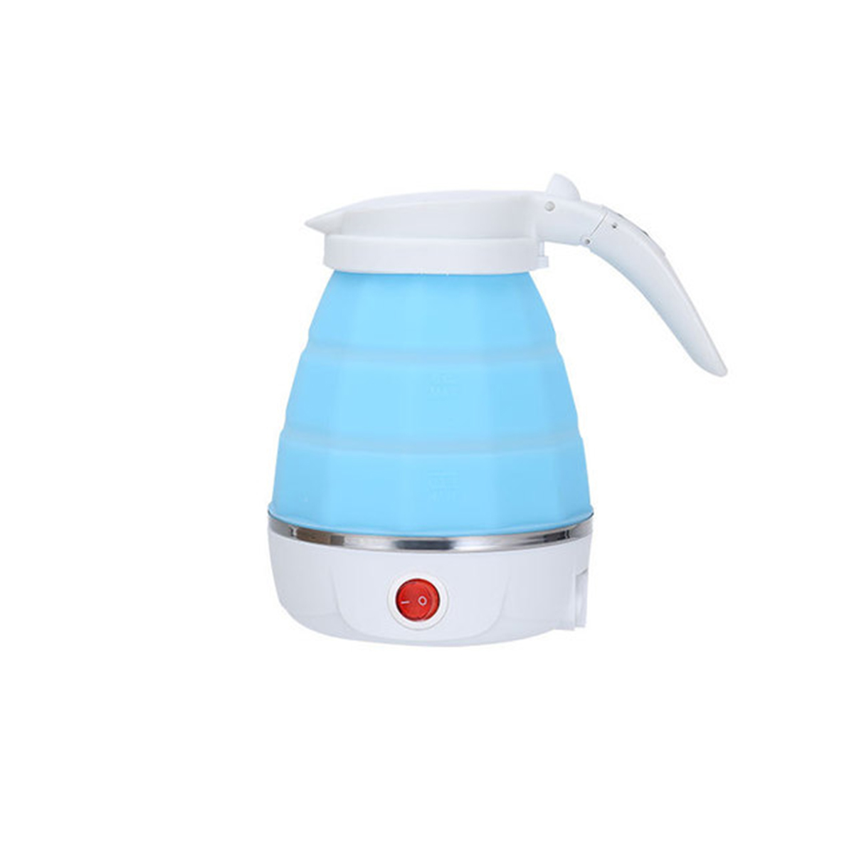 700W Electric Kettle Travel 0.6L Mini Foldable Kettle heated Water Boiler Silicone Electric Kettles Collapsible Camping Kettle