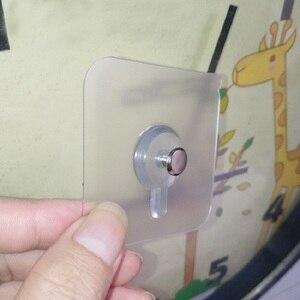 Image 5 - Juego de 4 unidades de ganchos para colgar en la pared del baño, marco decorativo para fotos, ventosa fuerte para pegar en las uñas