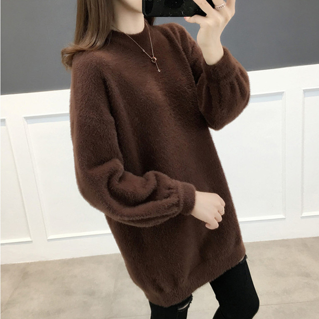Ailegogo Women Sweater Spring Autumn Casual O Neck Knitted Pullovers Korean Style Long Sleeve Knitwear Female Tops 1