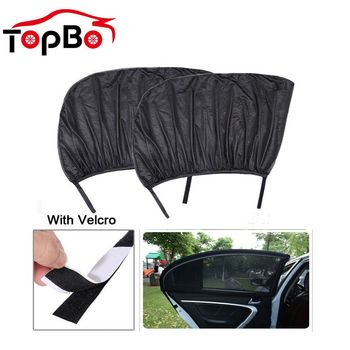 2Pcs Car Window Sun Shade Cover Curtain UV Protection Mesh Sunshade Window Protector For Kids Baby Car Accessories image