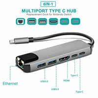 USB HUB C HUB zu Multi USB 3.0 HDMI Adapter Dock für MacBook Pro Zubehör USB-C Typ C 3,1 Splitter 3 port USB C HUB