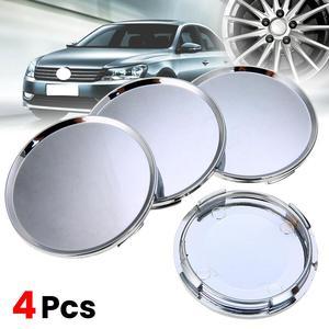 Лидер продаж, 4 шт./лот, 63 мм хромированные колпачки для автомобильных колес в центр ступицы, эмблема, наклейка на обод колеса, Пыленепроницае...