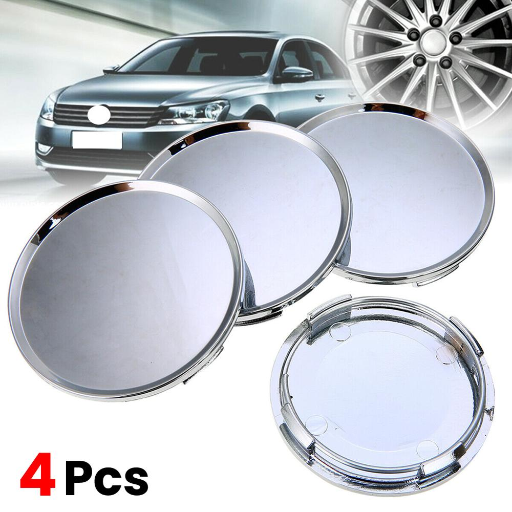 Hot 4PCS/lot 63MM Chrome <font><b>Car</b></font> <font><b>Wheel</b></font> Center <font><b>Hub</b></font> Caps Badge Emblem Sticker Decal <font><b>Wheel</b></font> Rim Dust-proof <font><b>Cover</b></font> for 63mm Logo Badge CSV image
