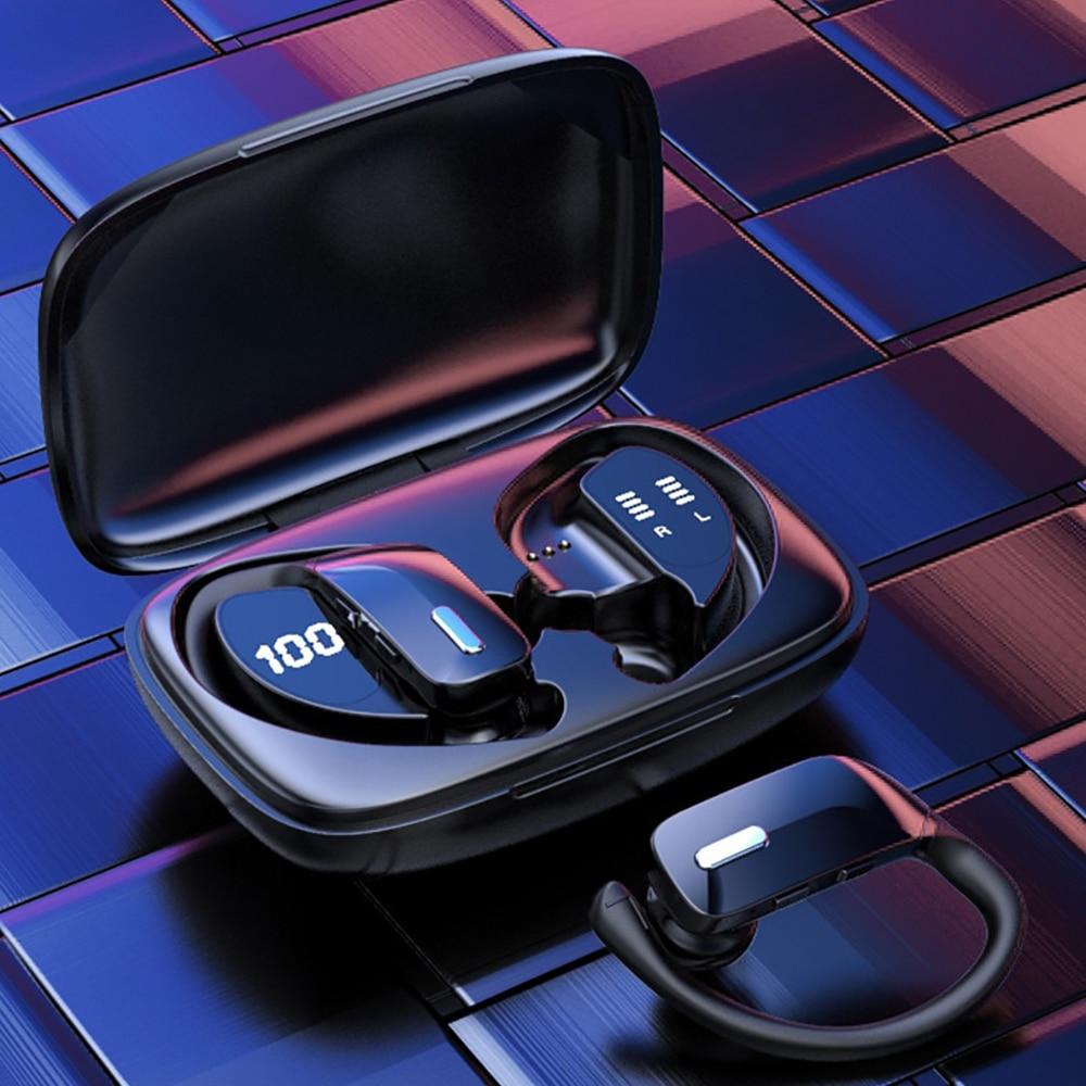 Tws New Bluetooth Sports Headphones T17 Noise Canceling Waterproof Wireless Earbuds Stereo Ear-Hook Gamer Headset for Cellphone