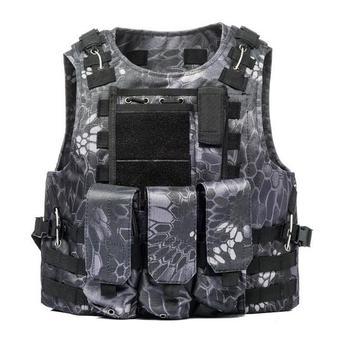 USMC Airsoft Military Tactical Vest Molle Combat Assault Plate Carrier Tactical Vest 7 Colors CS Outdoor Clothing Hunting Vest 7