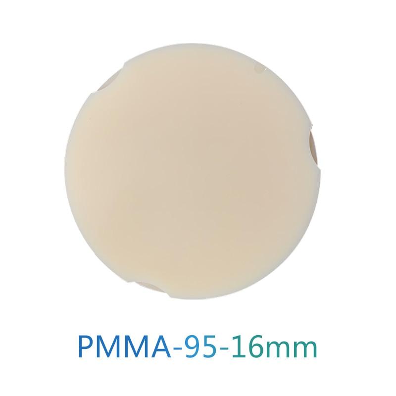 Zirkonzahn CAD CAM PMMA Disc Disc Dental Zirkon Zahn PMMA Blocks 95*16mm A1/A2/A3/A3.5/A4/B1/B2/B3/B4 D Shape Pmma Discs