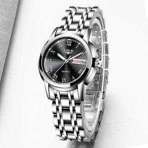 Image 4 - LIGE Fashion Women Watches Ladies Top Brand Luxury Stainless Steel Calendar Sport Quartz Watch Women Waterproof Bracelet Watch