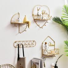 Ins золотые стеллажи для хранения скандинавские в форме любви