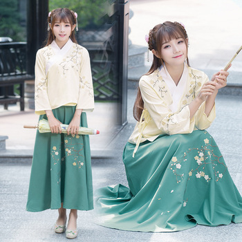 Refom Hanfu Women Classical Dance Costume Oriental Festival Outfit Embroidery Fairy Dress Stage Rave Performance Clothes DF1452