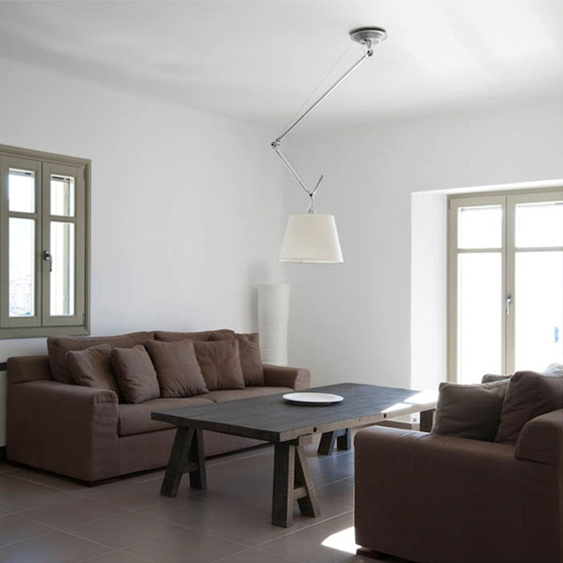 Modern Minimalist Mechanical Arm Adjustable Pendant Lights Creative Bedroom Home Decor Telescopic E27 LED Lighting Pendant Lamp