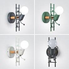 Новый американский Ретро светодиодный железный светильник в стиле индастриал, художественный злодей, креативный светильник для лестницы и...