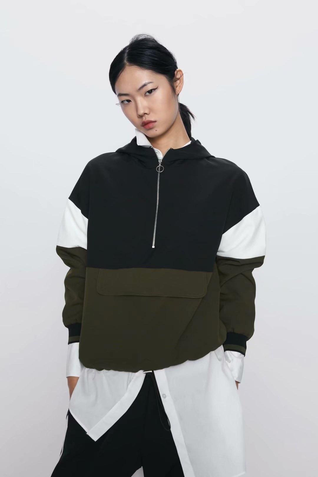 2020 New Spring Summer European Mixed Colors Zaraing Women Jacket Coat Hooded Pullover Vadiming Sheining Female Jacket HJY8818