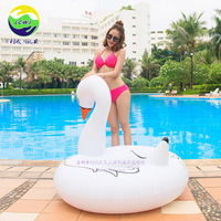 Supply Inflatable Swan Swimming Tube a Large Amount Currently Available Flamingo Inflatable Swim Ring Donut Water Swimming Tube