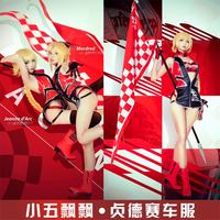 Pre slae Amine Fate/Grand Order Jeanne d'Arc Racing Suits Cosplay Costume Women Cos With Tube Top Underwear H