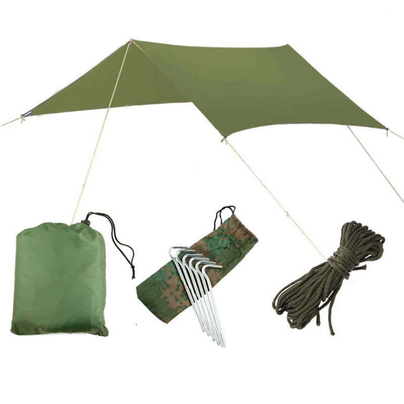 3mx3m Ultralight Beach car Sun Shelter Tarp Waterproof UV Awning Canopy Sunshade also can use as
