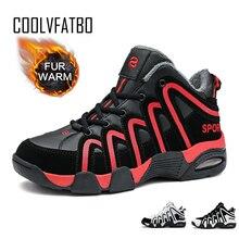 Мужские кроссовки COOLVFATBO, зимняя обувь, Мужская Баскетбольная обувь, осенние спортивные беговые кроссовки из хлопка, качественные снежные ботинки для мужчин