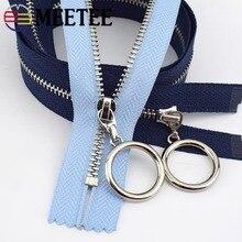 Metal Zipper Garment Textile-Decoration Open-End Sewing-Accessories Meetee 40-70cm Bags