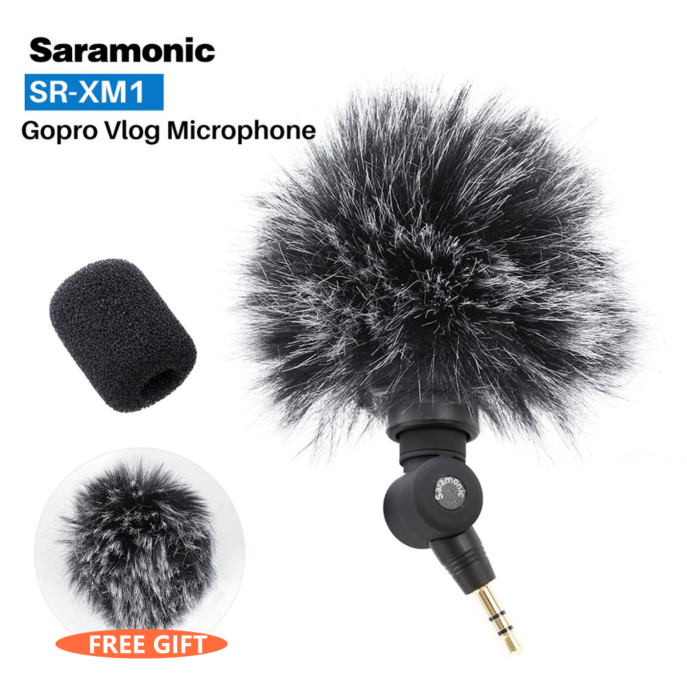 Saramonic SR-XM1 3.5mm Wireless Omnidirectional Microphone Video Mic For GoPro Hero 7 6 5 DSLR DJI Osmo Action Osmo Pocket