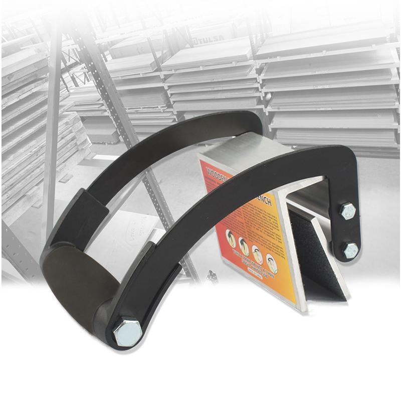 Leva o Prendedor do Elevador da Mão do Punho a Madeira Compensada Pesada do Portador do Painel de Alumínio de 2-25mm 50kg