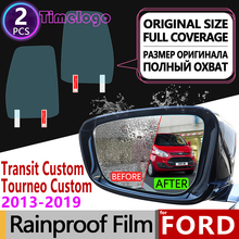 For Ford Transit Custom Tourneo Custom 2013~2019 Full Cover Anti Fog Film Rearview Mirror Rainproof Anti-fog Films Accessories car mats 3d salon for ford tourneo custom transit custom 1 2 seats 2013 2017 2 pcs