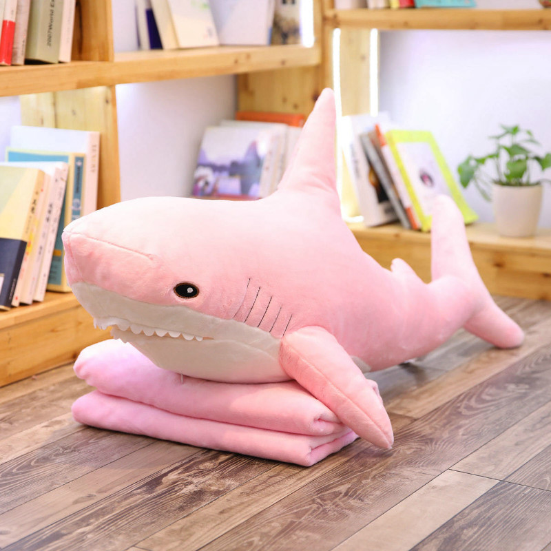 100cm Plush Shark Toys Stuffed Shark Animal Pillow Soft Plush Toys For Kids Birthday Gift 4 Colors Vip Link Drop Shipping