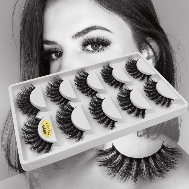 5 Pairs Multipack 3D Mink Lashes False Eyelashes Handmade Wispy Fluffy Long Lashes Natural Eye Makeup Tools Eye Lashes G806 6