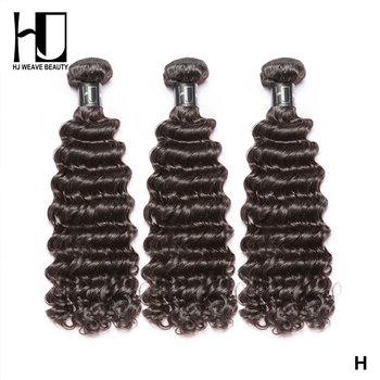 Curly Bundles 8A Indian Hair 3Pcs Lot Deep wave Virgin 100% Human extensions Double Drawn Free Shipping - discount item  41% OFF Human Hair (For Black)
