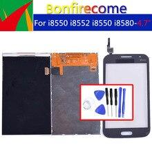 جودة الأصلي لسامسونج غالاكسي وين i8550 i8552 GT i8550 i8580 LCD عرض مع شاشة تعمل باللمس محول الأرقام الاستشعار لوحة