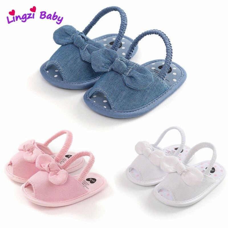 Baby Girl Sandals Summer Soft Sole Shoes Bowknot Sandals Toddler Infant Prewalkers Baby Sandals