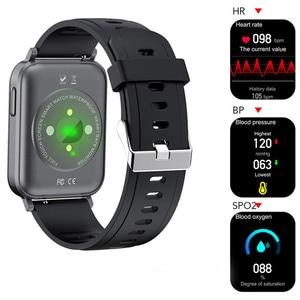 Image 3 - 2021 Thể Thao Đồng Hồ Thông Minh Nam Nữ Tùy Chỉnh Giấy Dán Tường Đồng Hồ Thông Minh Smartwatch Nhiệt Độ Cơ Thể Đo Nhịp Tim Đồng Hồ Dành Cho IOS Android