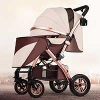 Haute paysage bébé poussette peut s'asseoir inclinable lumière pliante été bébé parapluie quatre roues bébé poussette