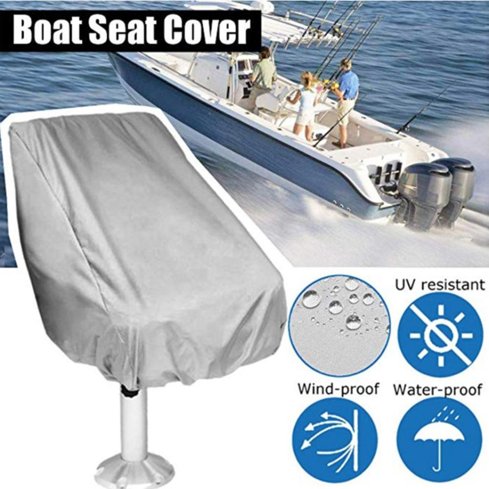 Waterproof Pontoon Chair Cover 210D Grey Oxford Sun-proof Rainproof Dust Cover Outdoor Storage Chair Dust Cover