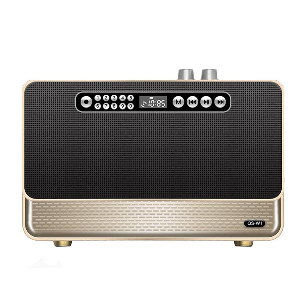 Beautiful Retro Wireless Speaker Wireless Card Audio Voice Prompt Call Function Retro Radio Christmas Gifts