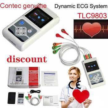 Oryginalne CONTEC 3 kanały holterowskie EKG EKG metodą holtera dynamiczny Monitor EKG 24 godzin rejestrator EKG T tanie i dobre opinie CHINA TLC9803 Elektroniczne urządzenie do pomiaru tętna