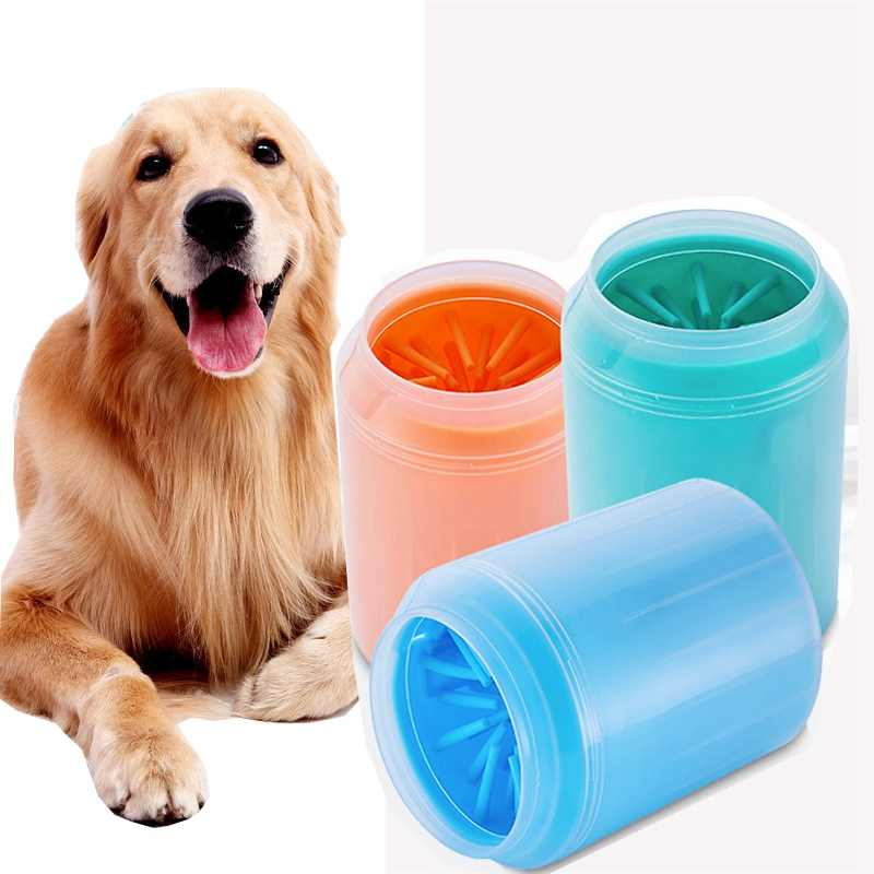Portable Dog Paw Cleaner Cup Soft Silicone Combs Pet Foot Washer Cup Paw  Clean Brush Quickly Wash Dirty Cat Foot Cleaning Bucket    - AliExpress