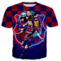 Oversized T-shirt men's sports short-sleeved Messi No. 10 football star casual fashion men's and women's T-shirt tops World Cup