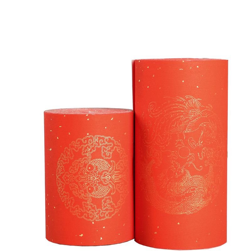 Painting Xuan Paper Rice Papers For Couplet Calligraphy Paper With Dragon Fish Red Gold Foil Half-Ripe Xuan Paper Rijstpapier