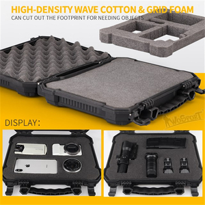 Image 3 - Tactical Gun Pistol Camera Protective Case Safety Case with Foam Padded+Safety Lock Dustproof Waterproof Hard Shell Pistol Box
