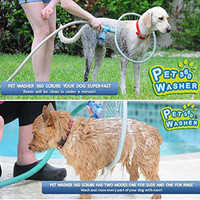 Pet Dog Cat Bathing Washer the 360 Degree Shower Tool Kit Cleaning Woof Washer 360 By Bulb Head Perfect Dog Washing Station