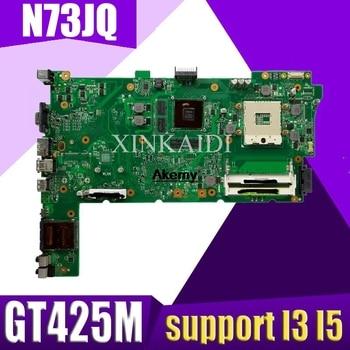 XinKaidi Original Laptop Motherboard for ASUS N73JG N73JQ N73JF REV:2.1 60-NZYMB1100-C14 Mainboard 2 RAM slots 100% tested