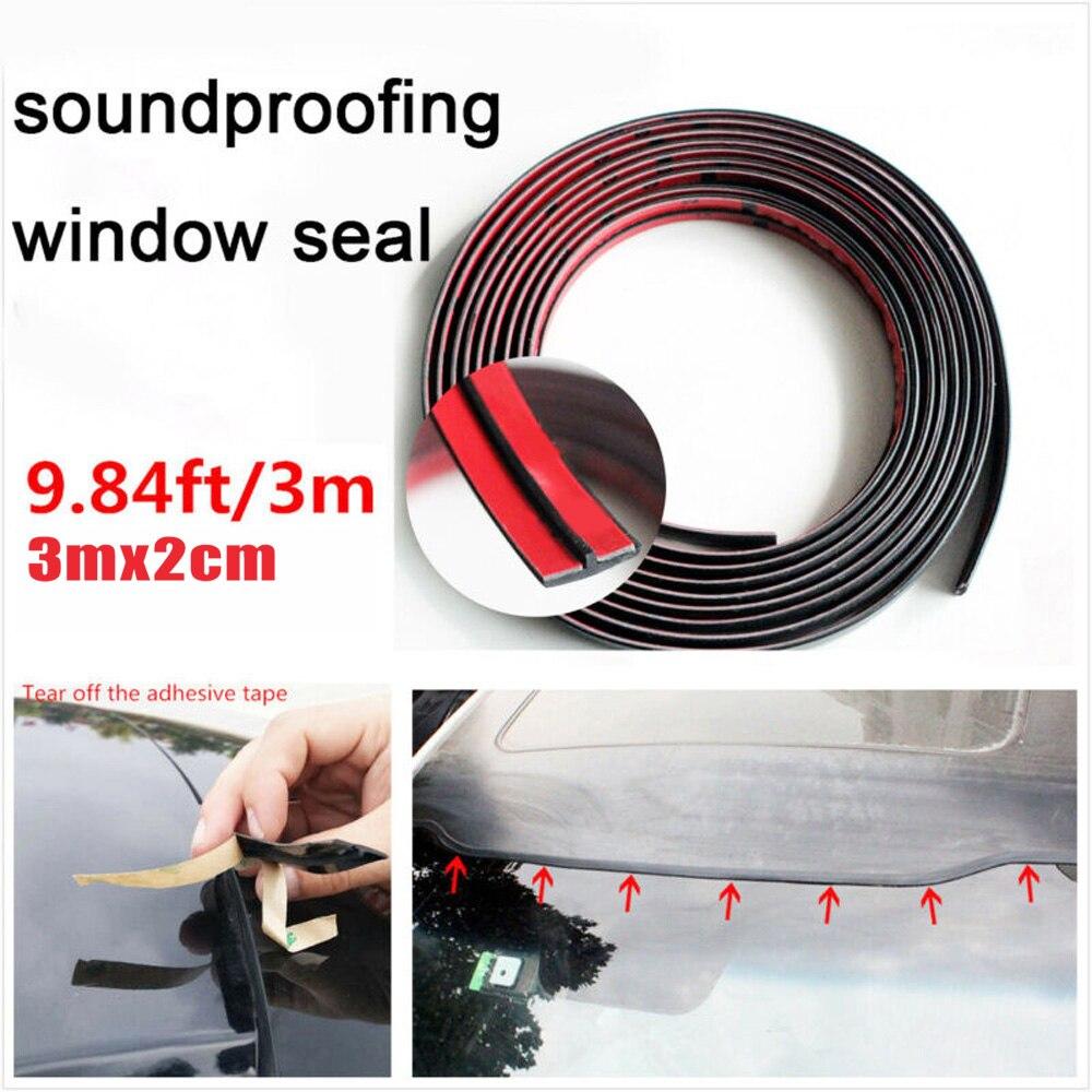 3m Car Windshield Seal Rubber Sunroof Quarter Window Glass Moulding Strip Black