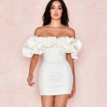 Bodycon Sexy Party Dresses Women Summer Pullover Casual Simple Holiday Fashion Lady Office 2020 Autumn White Sweet Young Girl
