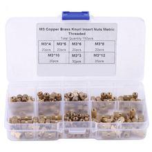 150pcs/Box  Knurl Insert Nuts M3 Threaded Insert Screws Assortment Set Kit Industry Machinery Nut Injection Tools