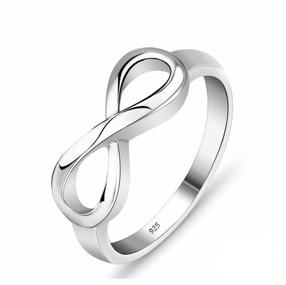 925 Sterling Silver Infinity Ring Eternity Ring Ch